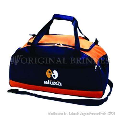 cdca257e4f2 Bolsa de viagem personalizada - Bolsa de viagem em poliéster com alça de  mão e alça