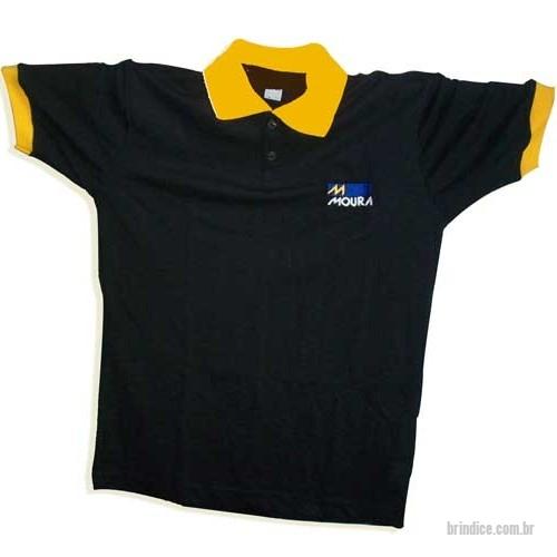 Camisa polo personalizada - Pólo confeccionada em Malha Piquet  Personalizada Bordado 85cf79b8fade4