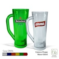 Caneca de Chopp Wave Cristal 430ml