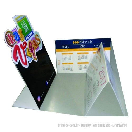 Display personalizado - Display de Mesa em Ps ou PVC