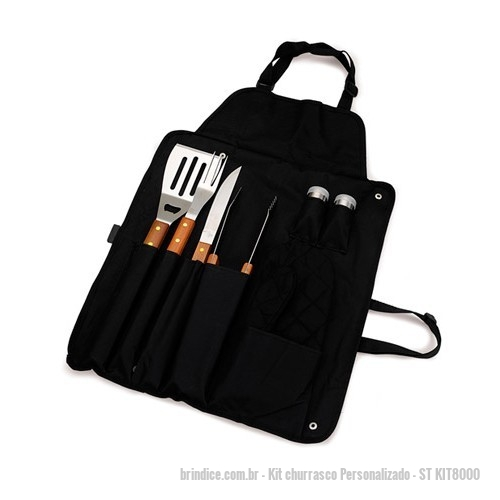 Kit churrasco personalizado - KIT CHURRASCO COM AVENTAL
