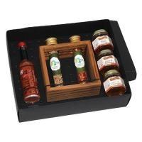 397c6ef1f Tábua para carne de madeira Personalizada   Kit pimenta em caixa de papel  duplex com molho