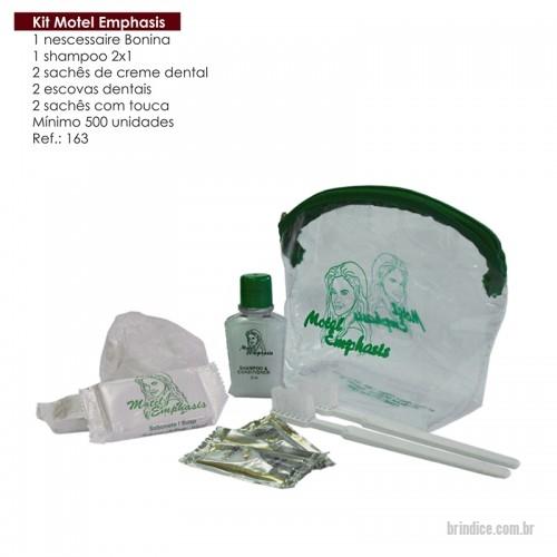 Kit hotel personalizado brindes personalizados 163 for Motel one shampoo