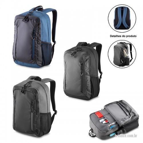 3cab6212c Mochila para notebook personalizada - Mochila com Porta Notebook em Nylon  com 2 Bolsos Frontais