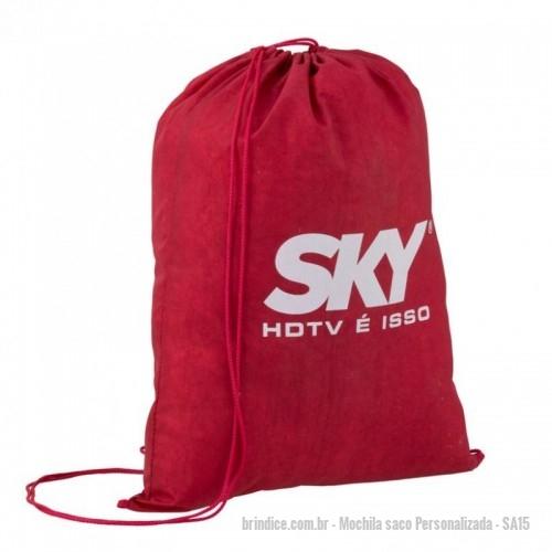 b131dc048 Mochila saco personalizada - Mochila saco – Confeccionada em nylon 70 sem  resina, incluso silk