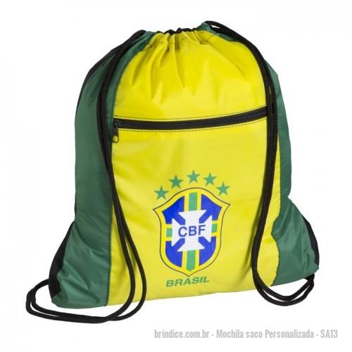 6cfa5129d Mochila saco personalizada - Sacola – Confeccionada em nylon 70  emborrachado