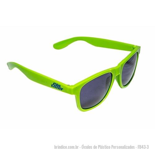 3fb3cc57a6e83 Óculos de Plástico personalizados - Óculos de plásticos personalizado.  Proteção UV 400. Medidas