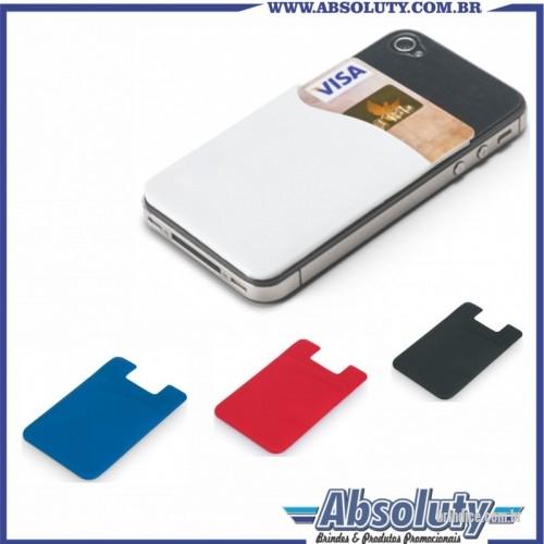 db2a54faa6 Porta cartão de crédito personalizada - Porta cartões para smartphone. PVC.  Com autocolante.