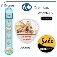 Wobblers, placas, painéis e escalas